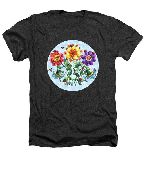 Ladybug Playground On A Summer Day Heathers T-Shirt by Shelley Wallace Ylst