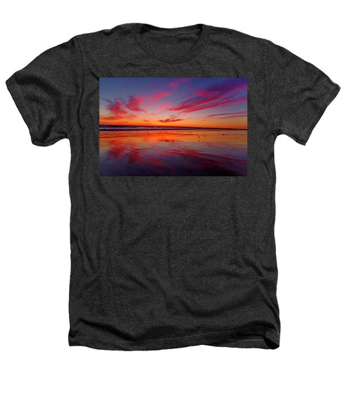 Last Light Topsail Beach Heathers T-Shirt by Betsy Knapp