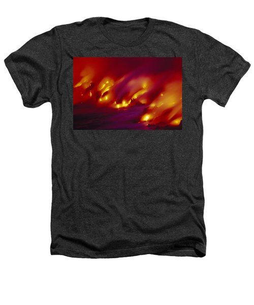 Lava Up Close Heathers T-Shirt by Ron Dahlquist - Printscapes