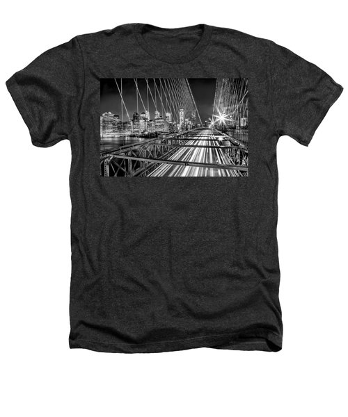 Light Trails Of Manhattan Heathers T-Shirt by Az Jackson