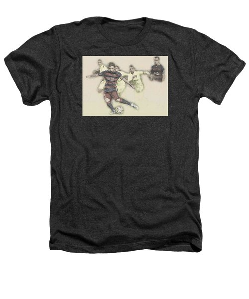 Lionel Messi Scores A Penalty Kick Against Levante  Heathers T-Shirt by Don Kuing