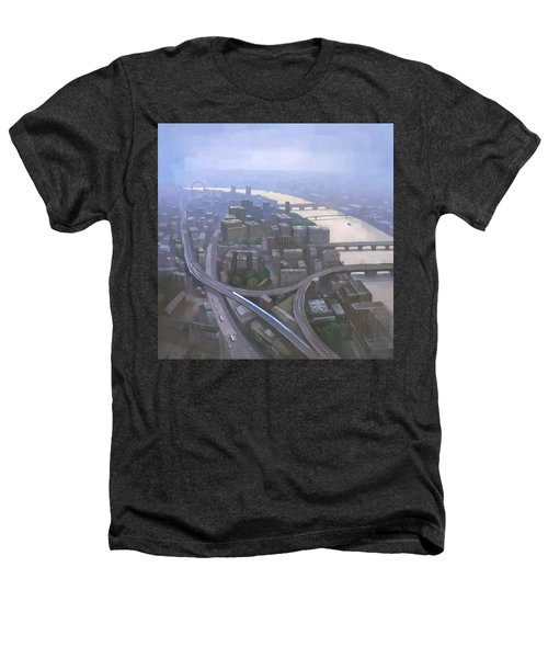 London, Looking West From The Shard Heathers T-Shirt by Steve Mitchell