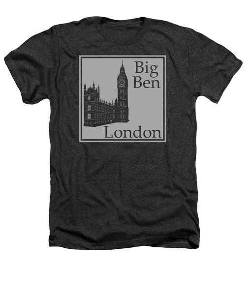 London's Big Ben In Gray Heathers T-Shirt by Custom Home Fashions
