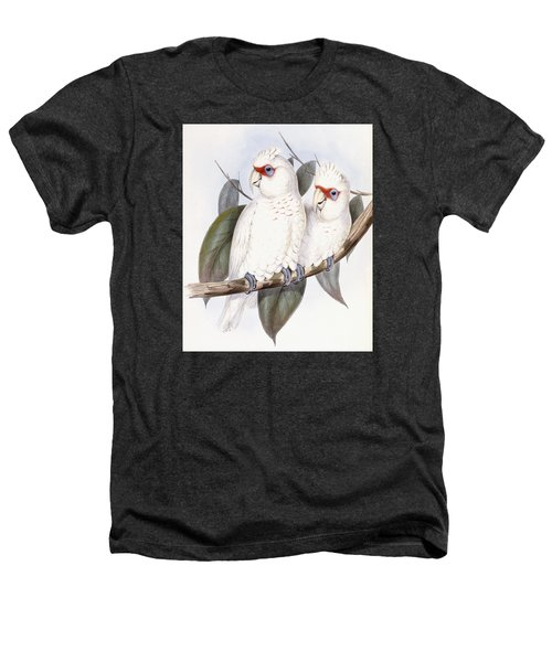 Long-billed Cockatoo Heathers T-Shirt by John Gould