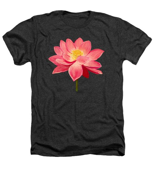 Lotus Flower Heathers T-Shirt by Anastasiya Malakhova