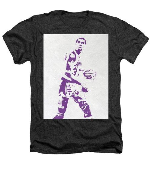 Magic Johnson Los Angeles Lakers Pixel Art Heathers T-Shirt
