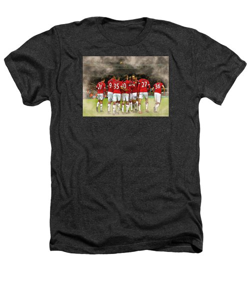 Manchester United  In Action  Heathers T-Shirt by Don Kuing