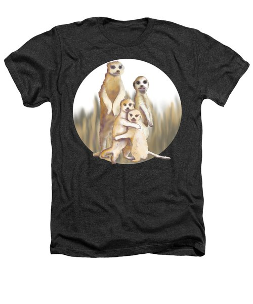 Meerkats  Heathers T-Shirt by April Burton