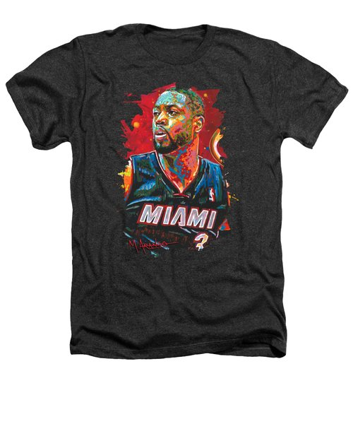 Miami Heat Legend Heathers T-Shirt by Maria Arango