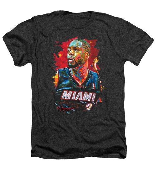 Miami Heat Legend Heathers T-Shirt by Maria Arango