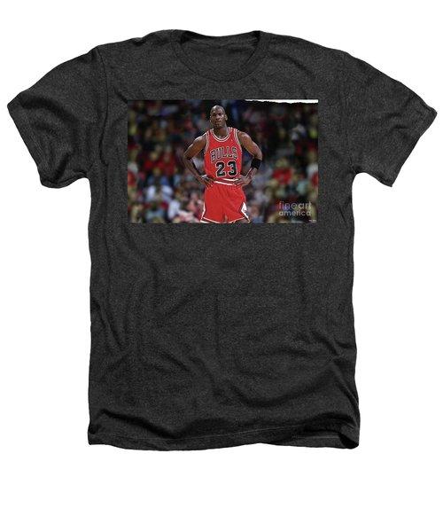 Michael Jordan, Number 23, Chicago Bulls Heathers T-Shirt by Thomas Pollart