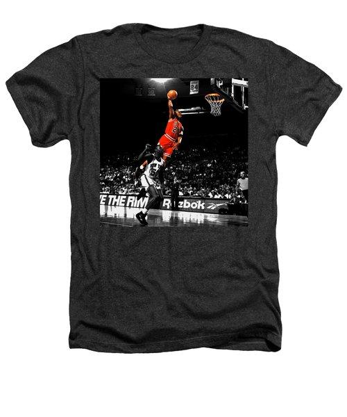 Michael Jordan Suspended In Air Heathers T-Shirt