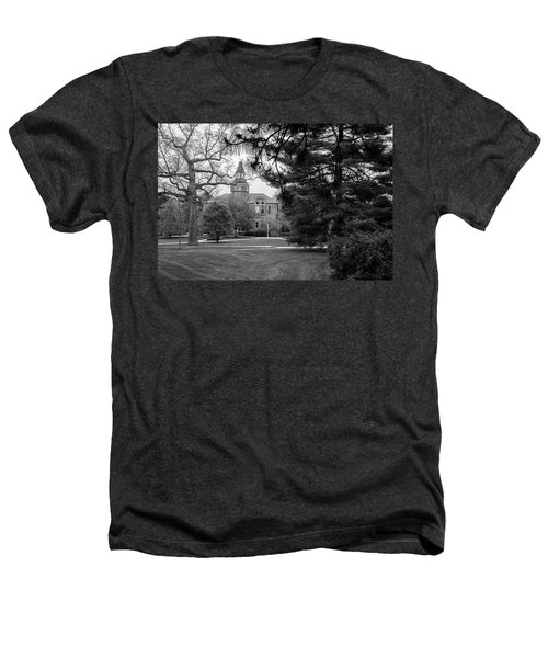 Michigan State University Campus Black And White  Heathers T-Shirt by John McGraw