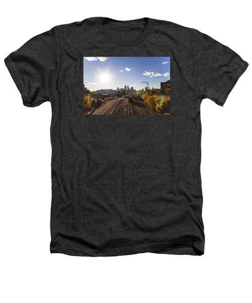 Minneapolis In The Fall Heathers T-Shirt by Zach Sumners