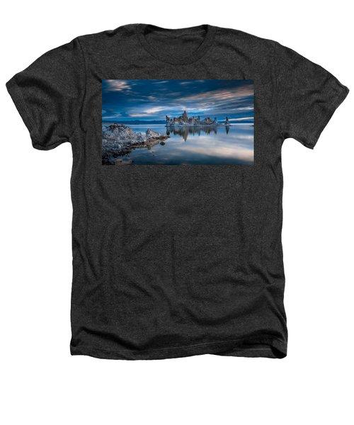 Mono Lake Tufas Heathers T-Shirt by Ralph Vazquez