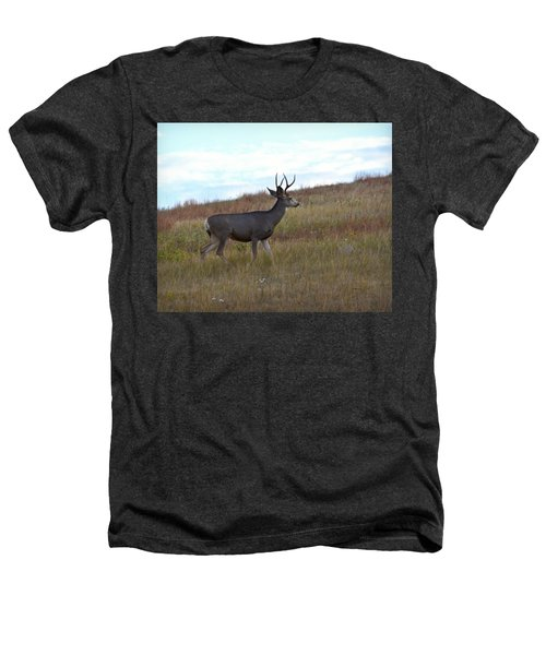 Mountain Climbing Deer Heathers T-Shirt