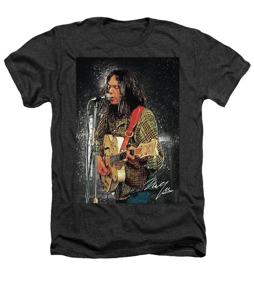 Neil Young Heathers T-Shirt by Taylan Apukovska