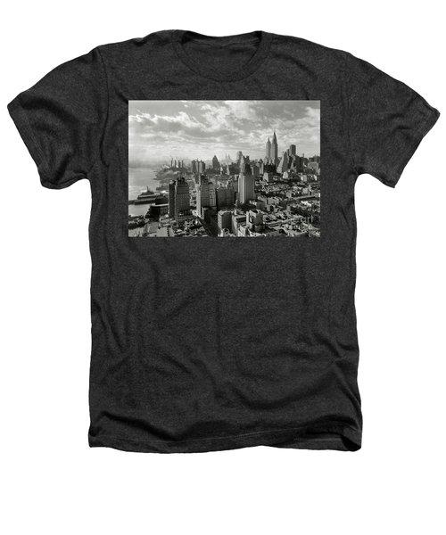 New Your City Skyline Heathers T-Shirt by Jon Neidert