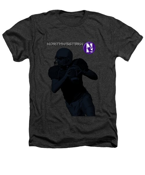 Northwestern Football Heathers T-Shirt by David Dehner