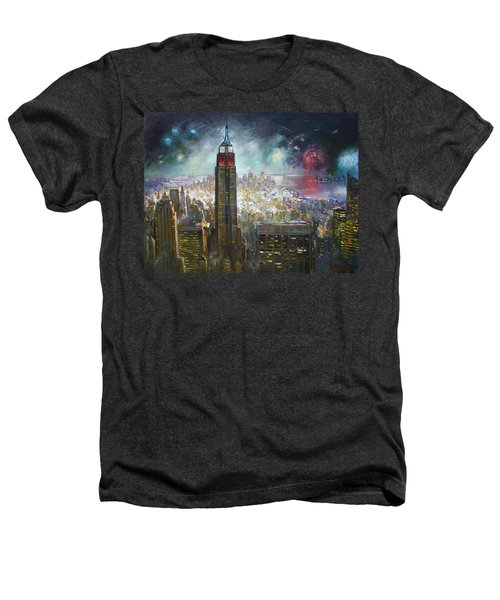 Nyc. Empire State Building Heathers T-Shirt by Ylli Haruni