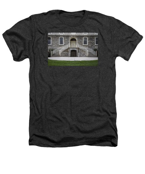 Old Main Penn State Stairs  Heathers T-Shirt by John McGraw