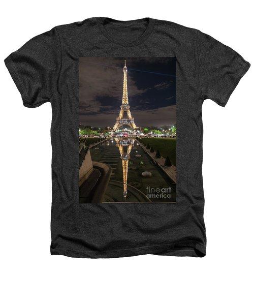 Paris Eiffel Tower Dazzling At Night Heathers T-Shirt by Mike Reid