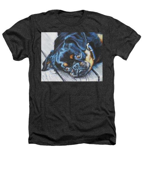 Petit Brabancon Brussels Griffon Heathers T-Shirt by Lee Ann Shepard