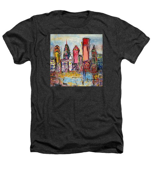 Philadelphia Skyline 232 1 Heathers T-Shirt by Mawra Tahreem