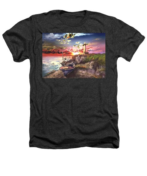 Pigeon Point Lighthouse Heathers T-Shirt