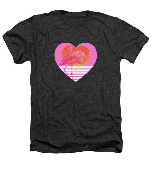 Pink Flamingos Heathers T-Shirt by Eclectic at HeART