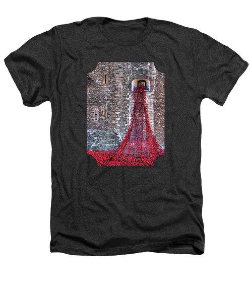 Poppy Cascade Heathers T-Shirt by Gill Billington