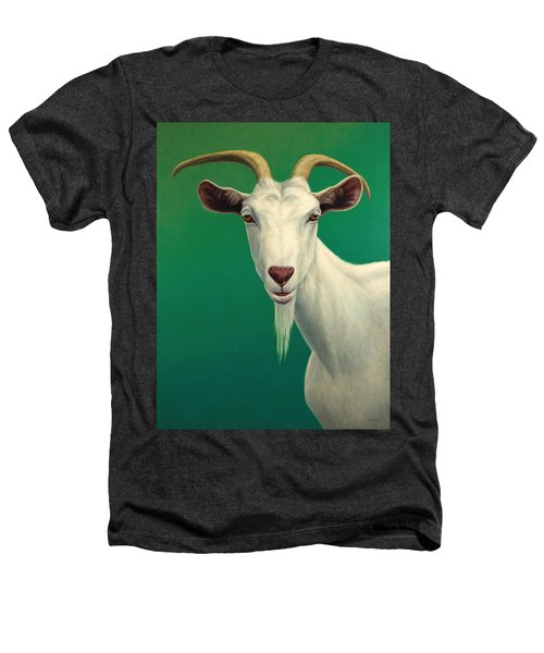 Portrait Of A Goat Heathers T-Shirt by James W Johnson
