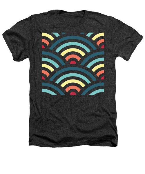 Rainbowaves Pattern Dark Heathers T-Shirt by Freshinkstain