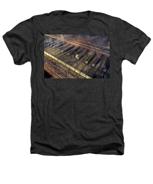 Rock Piano Fantasy Heathers T-Shirt by Mal Bray