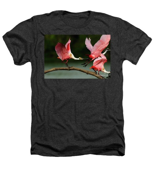 Rosiette Spoonbills Lord Of The Branch Heathers T-Shirt by Bob Christopher