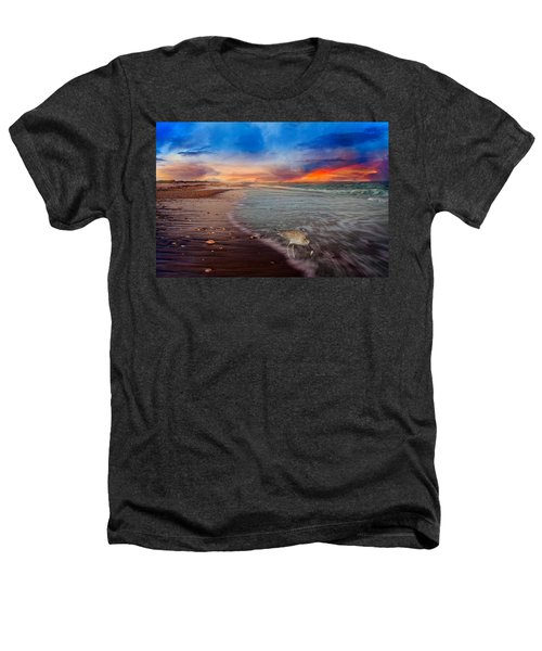 Sandpiper Sunrise Heathers T-Shirt by Betsy Knapp