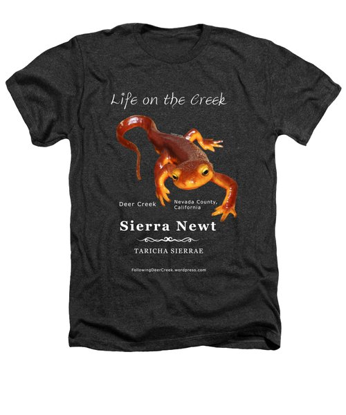 Sierra Newt - Color Newt - White Text Heathers T-Shirt by Lisa Redfern