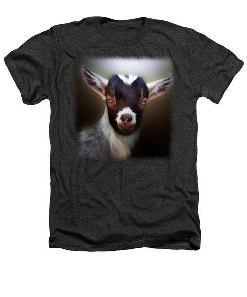 Skippy - Goat Portrait Heathers T-Shirt by Linda Koelbel