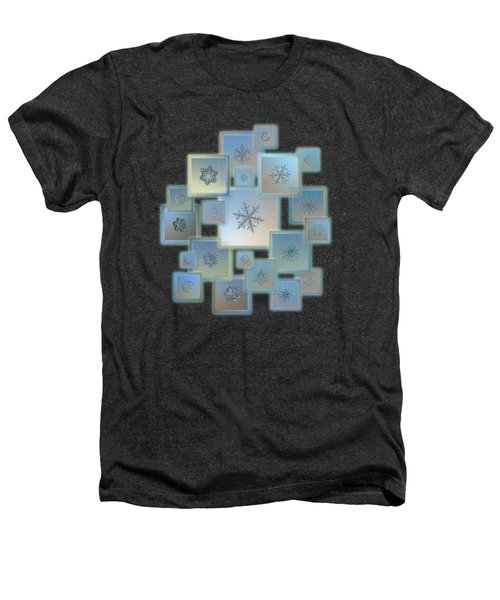 Snowflake Collage - Bright Crystals 2012-2014 Heathers T-Shirt