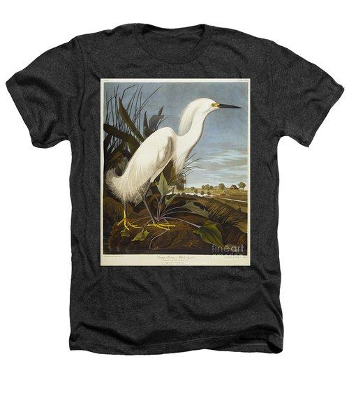 Snowy Heron Heathers T-Shirt