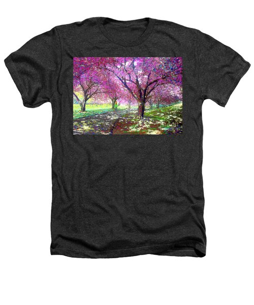 Spring Rhapsody, Happiness And Cherry Blossom Trees Heathers T-Shirt