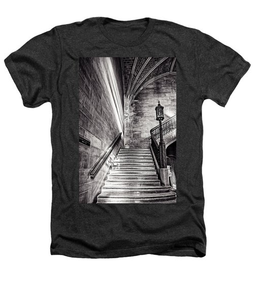 Stairs Of The Past Heathers T-Shirt by CJ Schmit