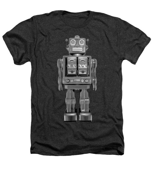 Star Strider Robot Red Bw Heathers T-Shirt by YoPedro