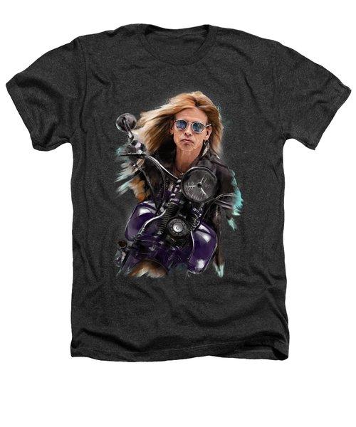 Steven Tyler On A Bike Heathers T-Shirt