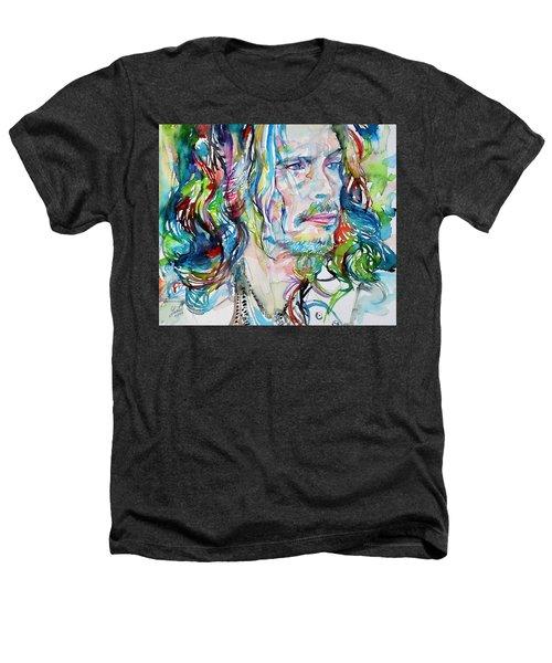 Steven Tyler - Watercolor Portrait Heathers T-Shirt