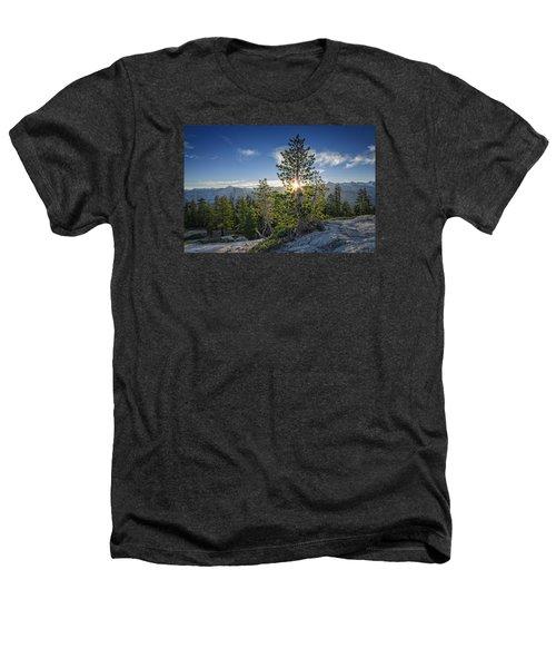 Sunrise On Sentinel Dome Heathers T-Shirt by Rick Berk