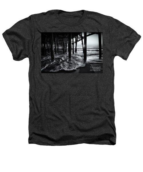 Sunset Under The Santa Monica Pier Heathers T-Shirt
