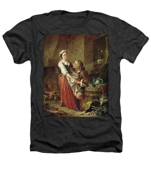The Beautiful Kitchen Maid Heathers T-Shirt by Francois Boucher
