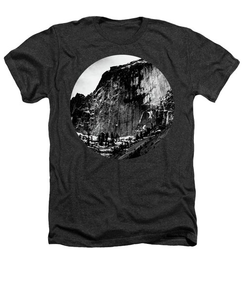The Great Wall, Black And White Heathers T-Shirt by Adam Morsa