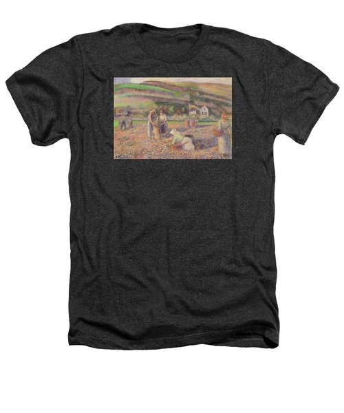 The Potato Harvest Heathers T-Shirt by Camille Pissarro
